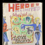 The cover of Journey Planet #31 features art for Heroes Unlimited - the Merry Marvel Fanzine #2 by a young Paul Neary