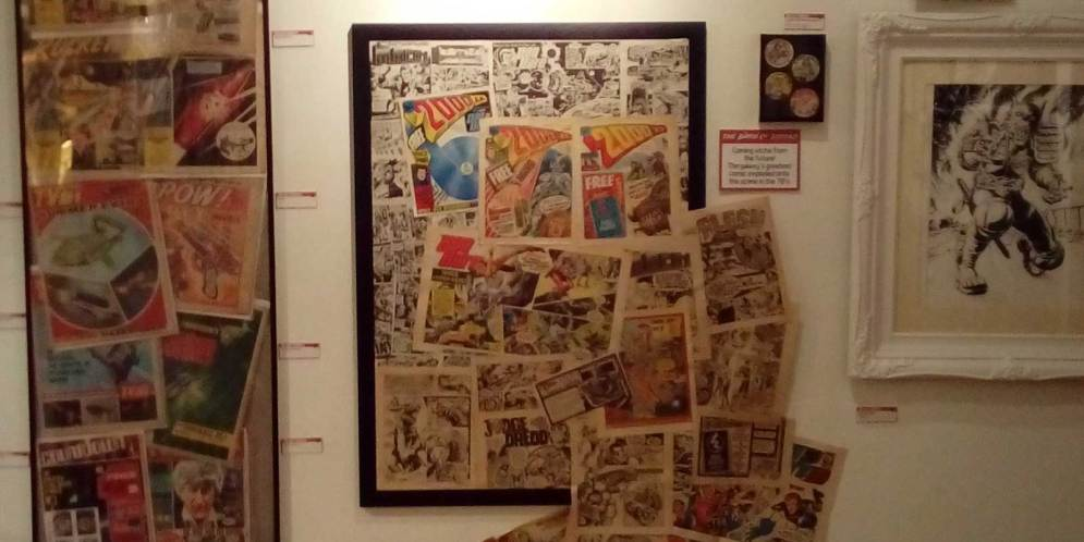 Photo Review: The BEYOND 2000AD Exhibition at London's Orbital Comics