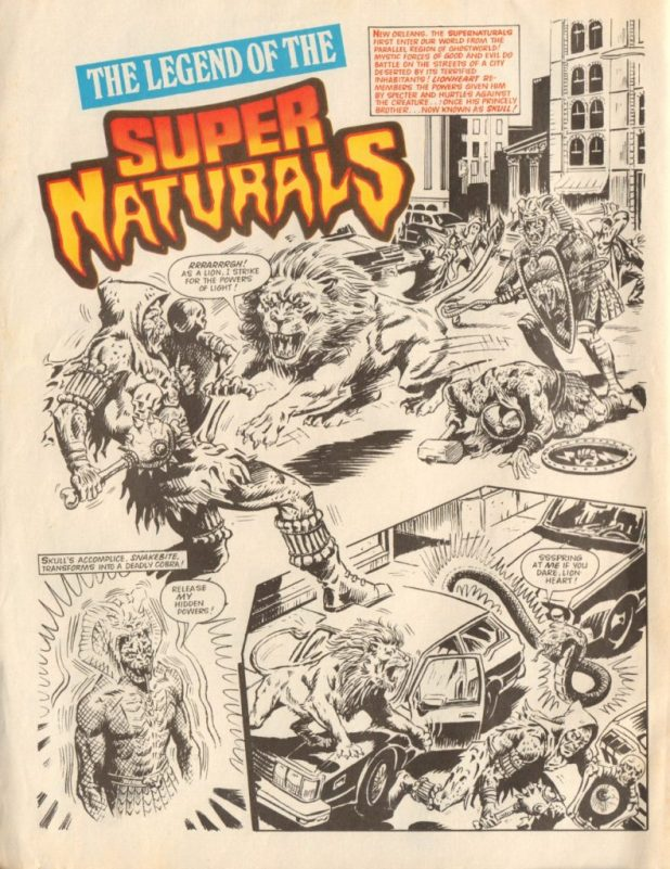 "The opening page of ""Legend of the Super Naturals"" from Super Naturals Issue Two"