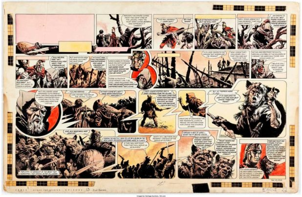 """""""Heros the Spartan"""" from Eagle Volume 14 Issue 22 by Frank Bellamy"""