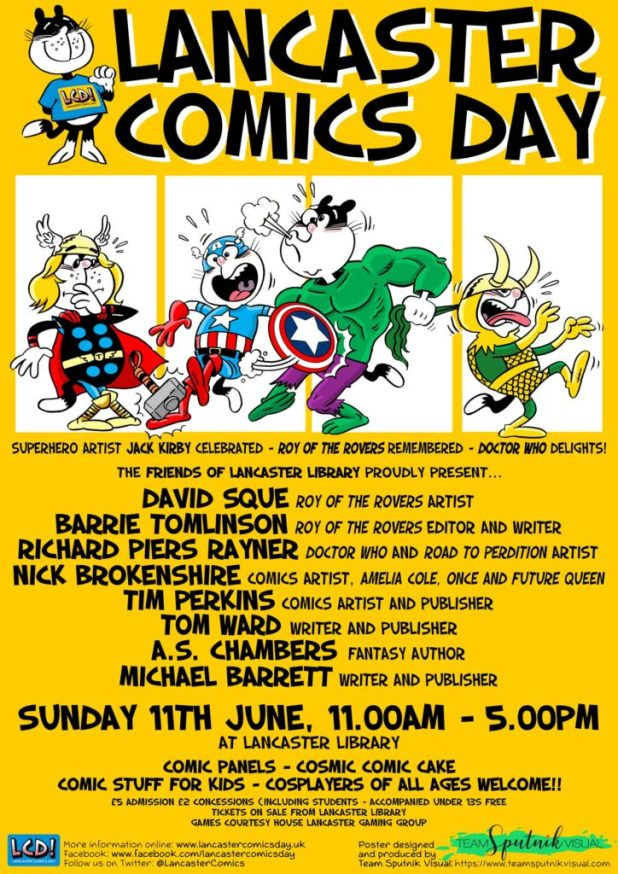 Lancaster Comics Day 2017 REVISED