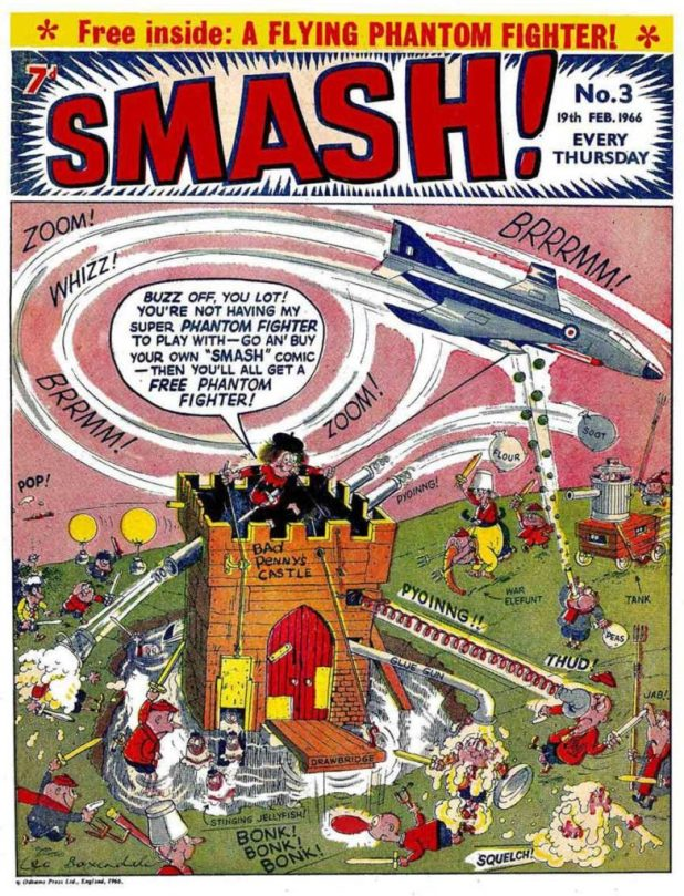 The cover of SMASH! Issue Three featuring Bad Penny, signed by Leo Baxendale