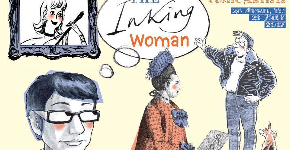 """Inking Woman"" Exhibition opens next week at London's Cartoon Musuem"
