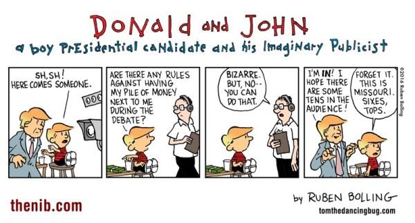 Donald and John by Reuben Award nominee Ruben Bolling