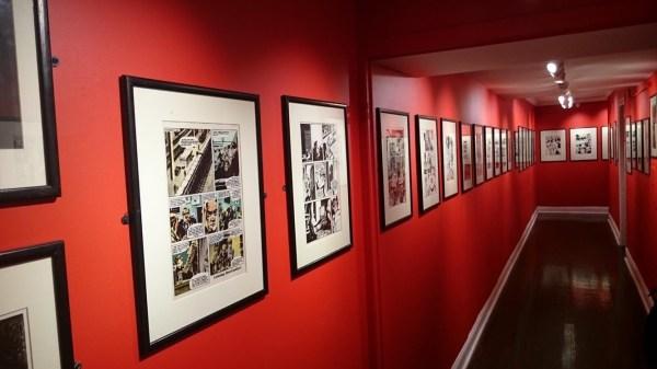 V for Vendetta Exhibition. Image via David Lloyd