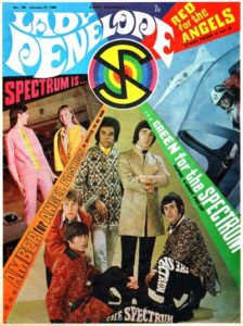"While ""The Angels"" didn't get many cover mentions, Issue 106 did feature the band Spectrum, who performed the show's end Credits song"