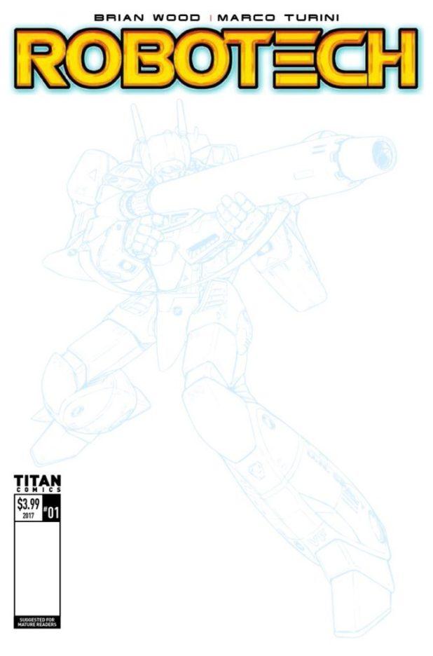 Robotech #1 Cover F - Sketch Variant