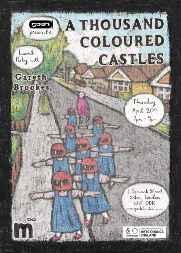 A Thousand Coloured Castles - Gosh Launch Poster