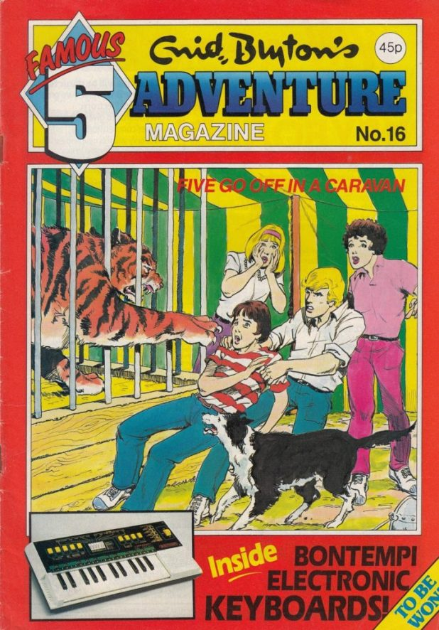 """""""Five Off In A Caravan"""", the final story adapted for Enid Blyton Adventures (issue 16) by Gail Renard & Les Lilley; art by John Richardson"""