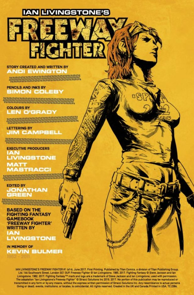 Freeway Fighter #1 - Credits