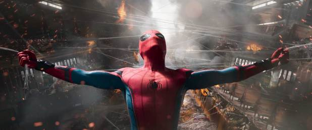 Tom Holland stars as Spider-Man in Columbia Pictures' SPIDER-MAN: HOMECOMING.