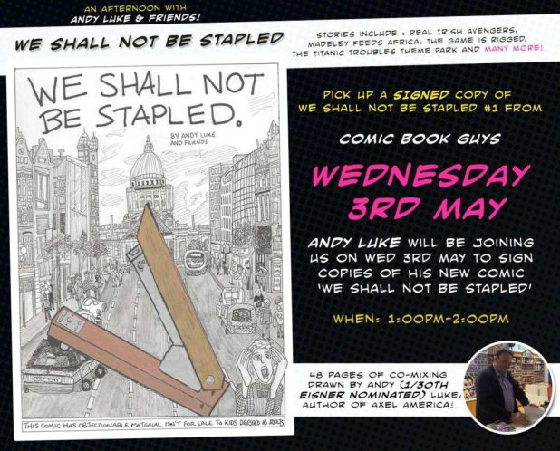 We Shall Not Be Stapled -  Launch Poster