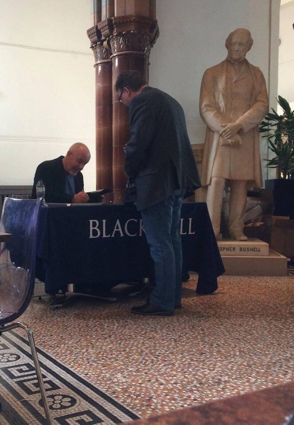 John Higgins signing at Open House Lightnight Liverpool