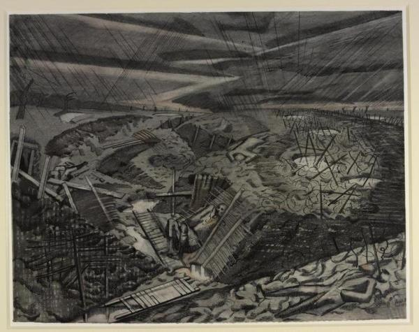 View of a Western Front battlefield in the aftermath of battle, 1918, by Paul Nash