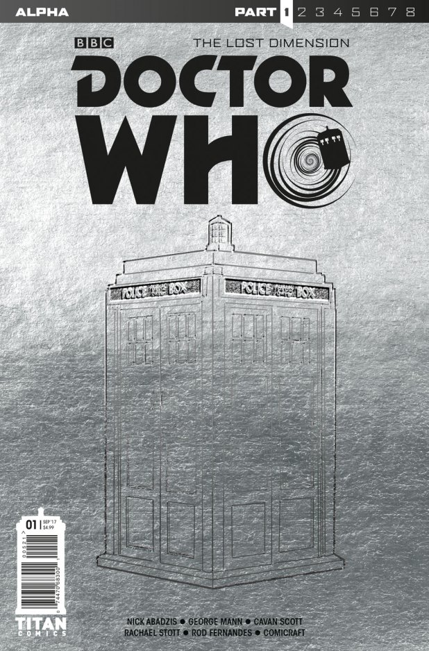Doctor Who: The Lost Dimension - Alpha Cover  A:  ​Embossed TARDIS Foil Cover​