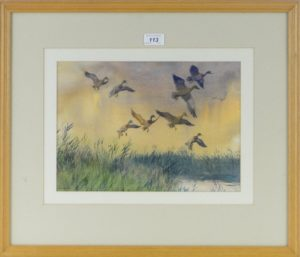 Mallards and the Ocoming Storm by Desmond Walduck