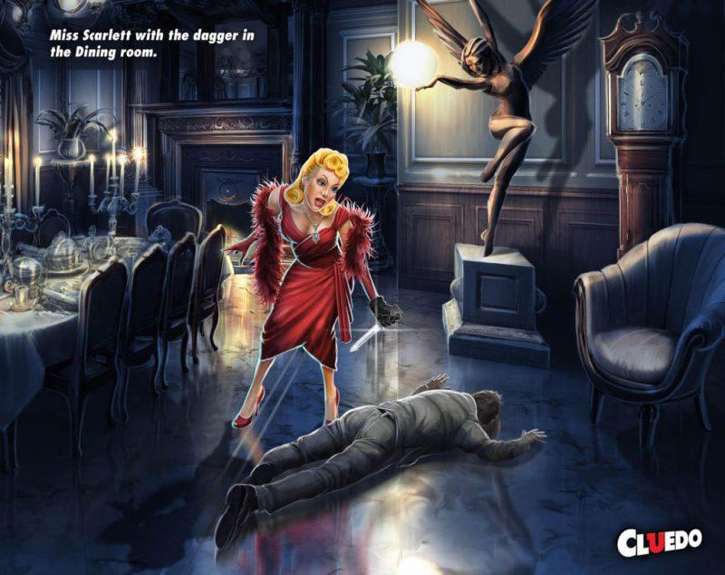 Cluedo - Scarlett with Dagger