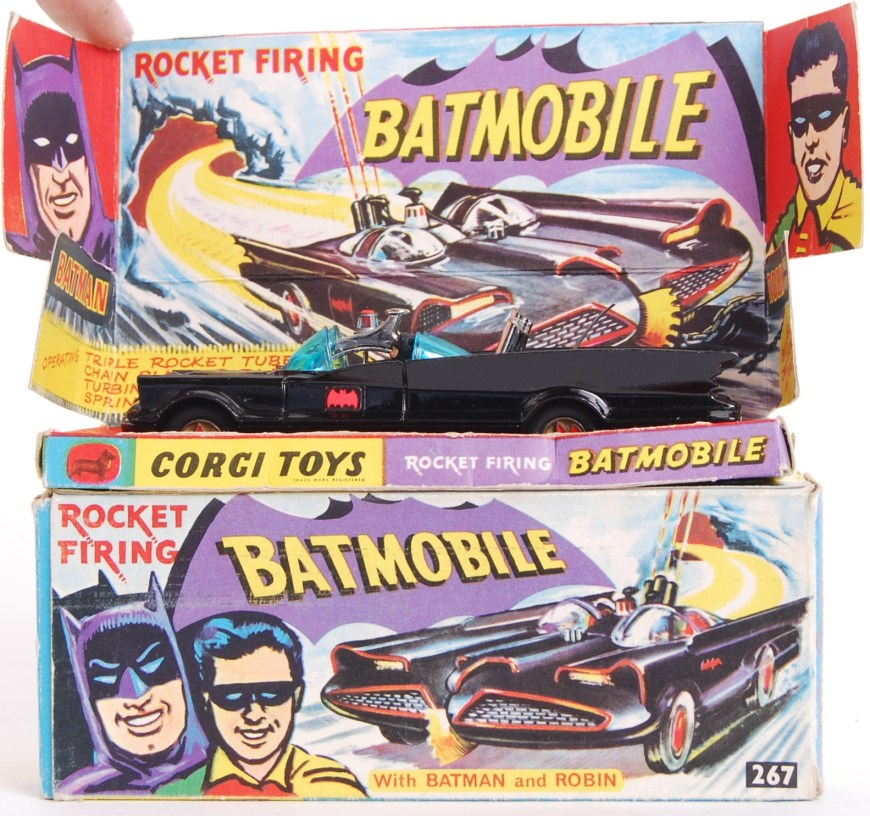 Corgi Batmobile (Model Number 267) Box Art
