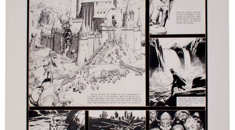 ''Prince Valiant'' Sunday Artwork by Hal Foster from 1939