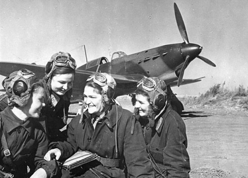 Some of Russia's Night Witch pilots. Most were just 20 years old.