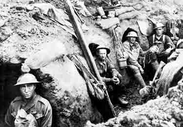 Australian Field Ambulance officers sheltering in trench circa 1915, Photographer unknown by State Library of Queensland / CC BY 2.0
