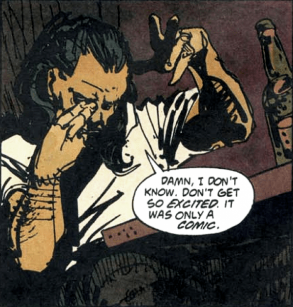 A panel from Enigma by Peter Milligan and Duncan Fegredo