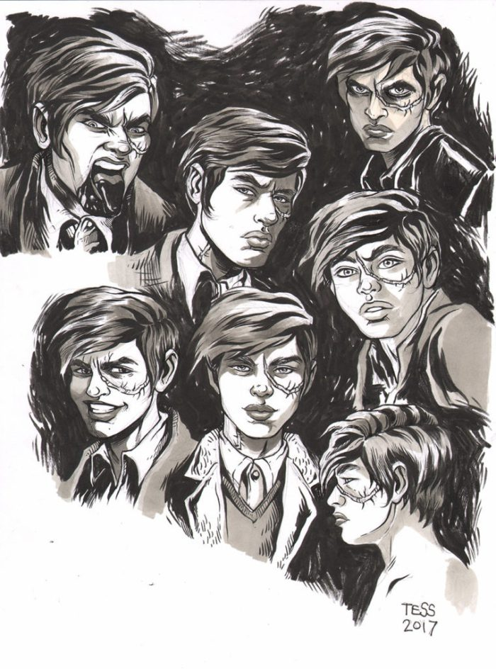 Art for the Black Crown project Kid Lobotomy by Tess Fowler, written by Peter Milligan
