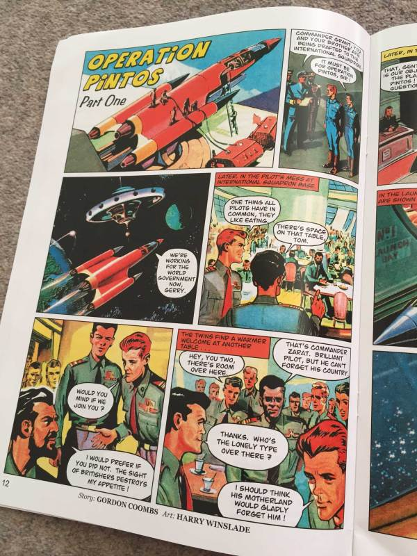 """Operation Pintos "" Part One by Gordon Coombs, art by Harry Winslade"