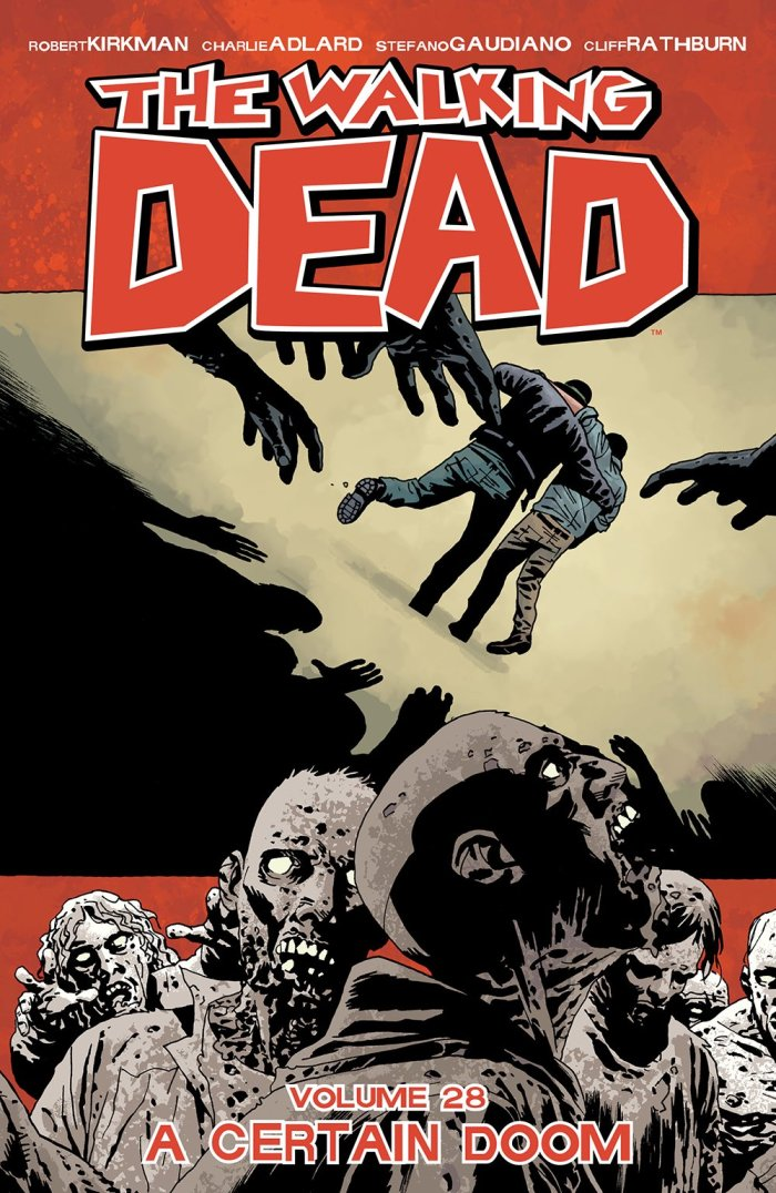 The cover of Walking Dead Volume 28, out in September