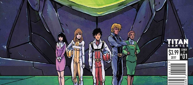 Robotech #1 Third Printing Cover - Michael Dialynas SNIP