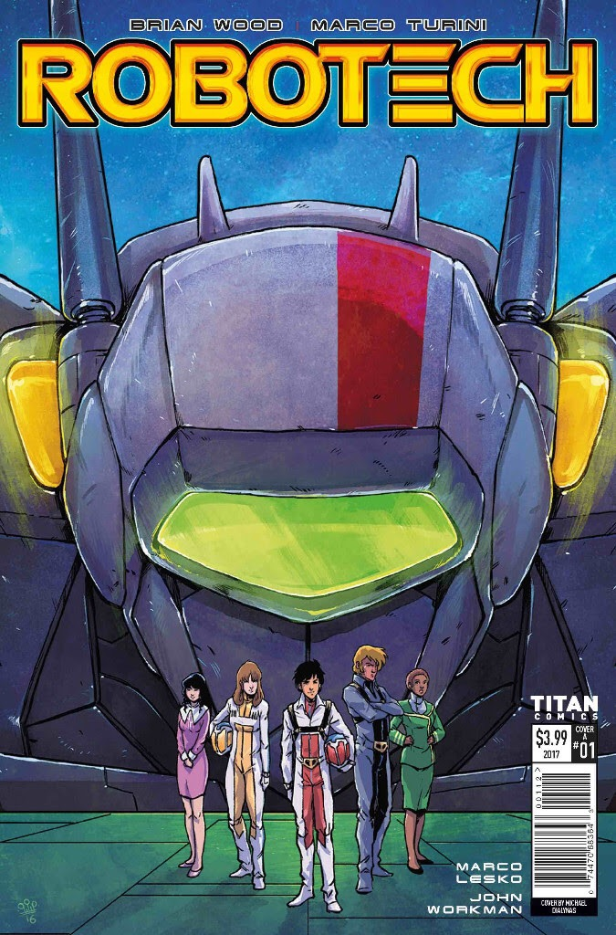 Robotech #1 Third Printing Cover - Michael Dialynas