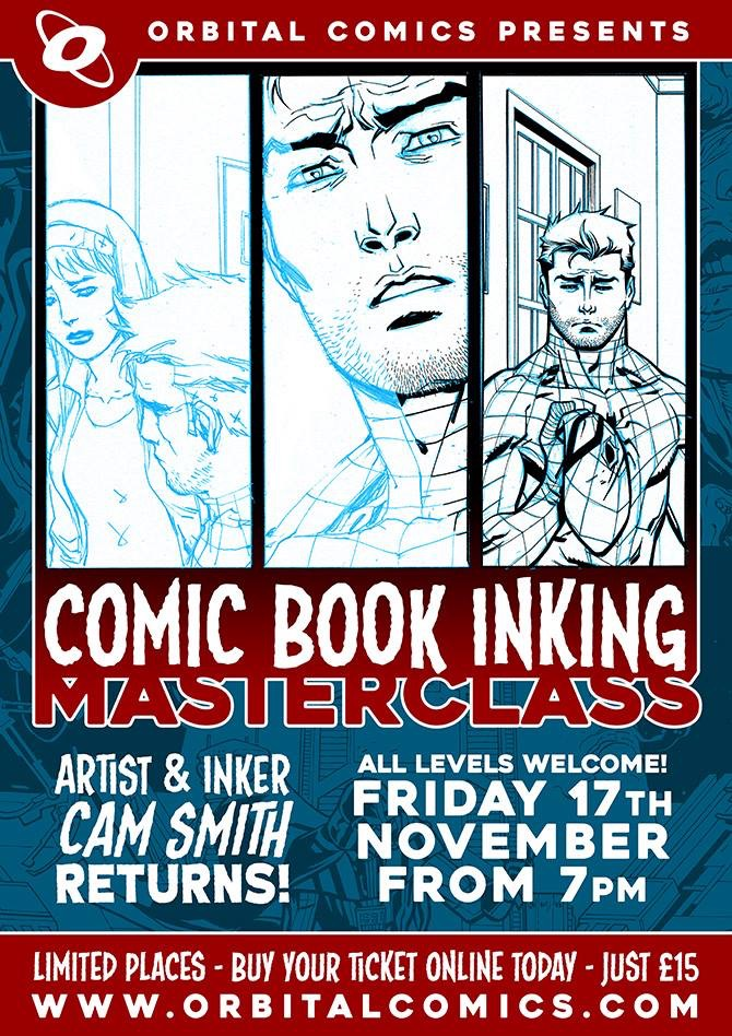 Cam Smith - Comic Book Inking Class Poster