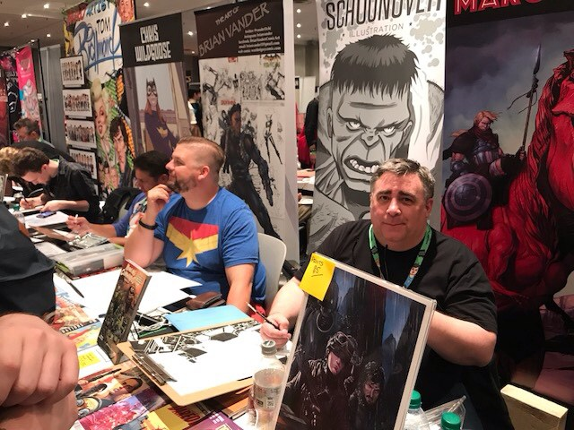 New York Comics Con Day 1 - Brent Schoonover and Marc Laming
