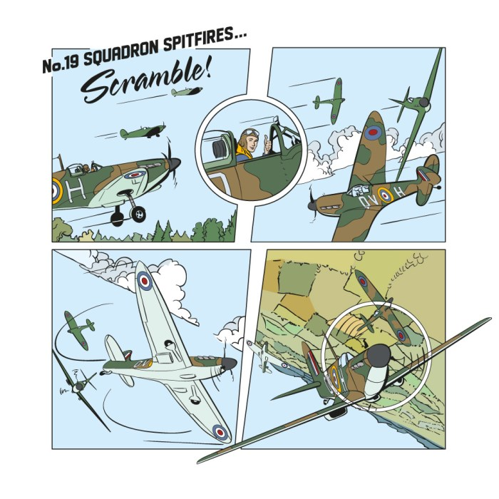 """""""Spitfires"""" - an illustration for the Imperial War Museum  by Stuart Medley"""