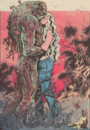"Art from Swamp Thing #34 ""Rite of Spring"", written by Alan Moore, art by Stephen Bissette and John Totleben © DC Comics"