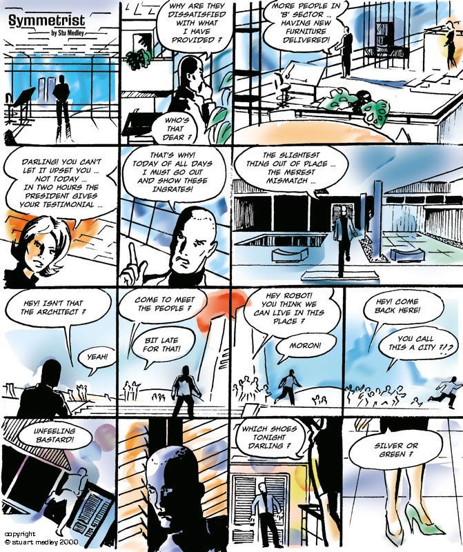 A comics commission for Mu Magazine, 2001. Art by Stuart Medley
