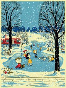 Dark Hall Mansion - Peanuts - Seasons - Winter by Chris Thornley