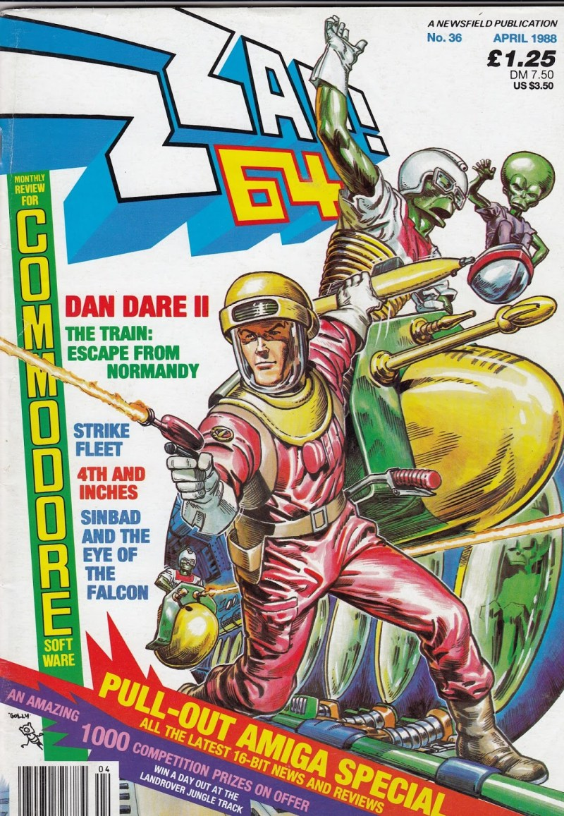 Zzap64 36 - Dan Dare Cover by Oliver Frey