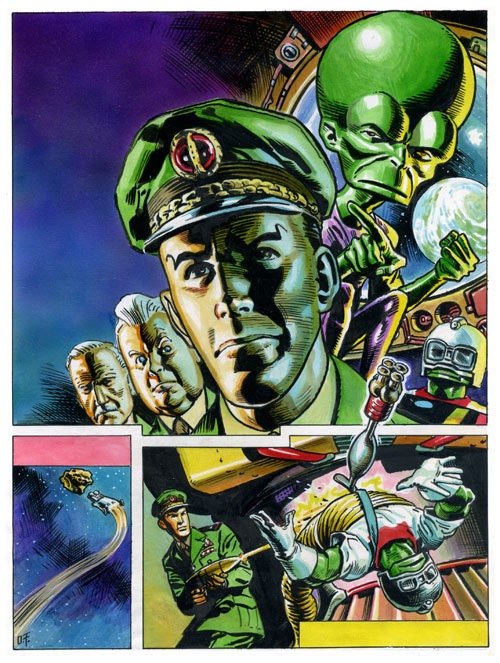 CRASH Issue 32 - Dan Dare cover art by Oliver Frey