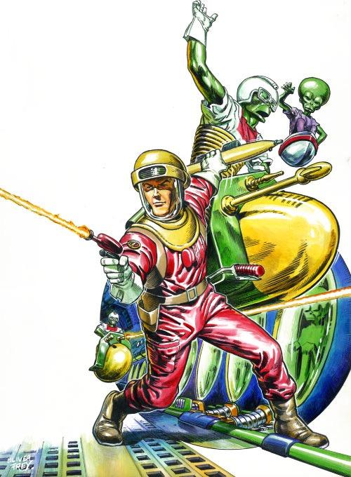 Zzap64 36 - Dan Dare Cover art by Oliver Frey