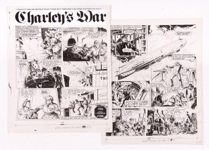 Charley's War original artworks (1984) by Joe Colquhoun from Battle-Action 284