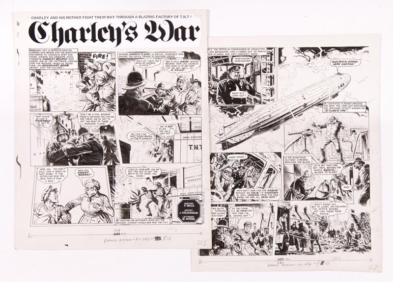 Charley's War original artworks (1984) by Joe Colquhoun from Battle-Action 284