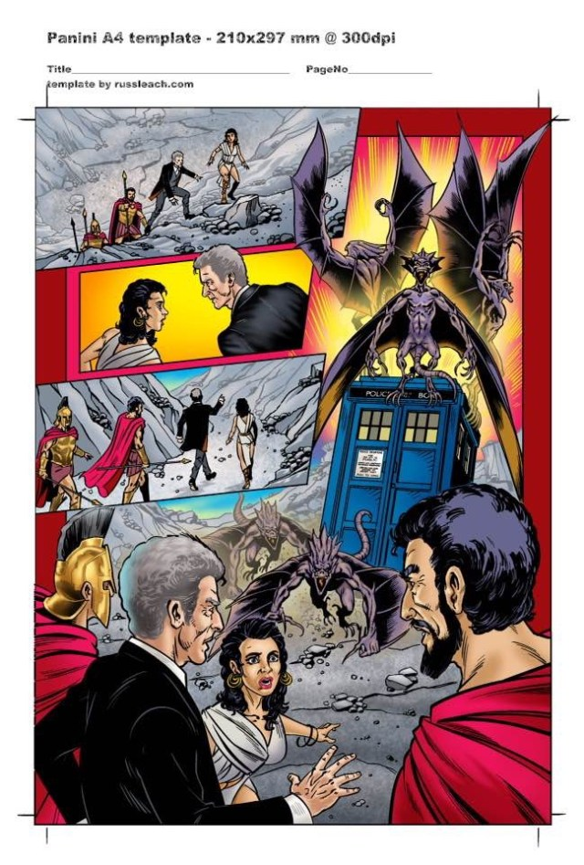 Doctor Who Adventures - Unpublished Twelfth Doctor Strip 4 Colour