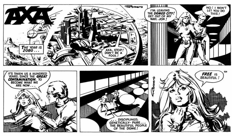 The opening episodes of Axa, first published in The Sun in 1986