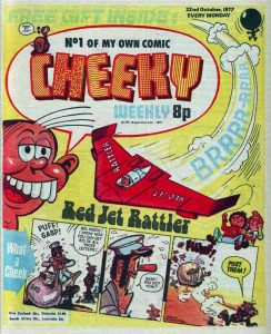 The published cover for Cheeky Weekly Issue One