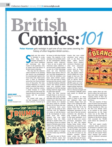 Collectors Gazette - January 2018 - Comic Article Snapshot
