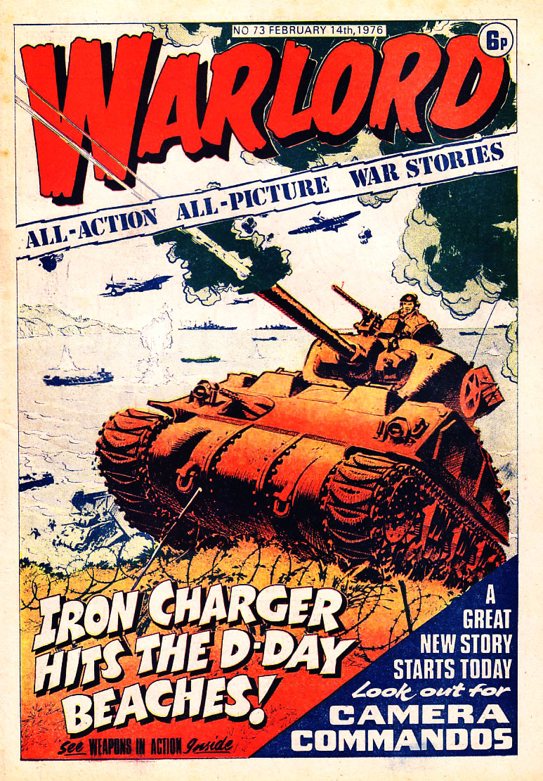 Warlord Issue 73 - Cover dated 14th February 1976 - Cover