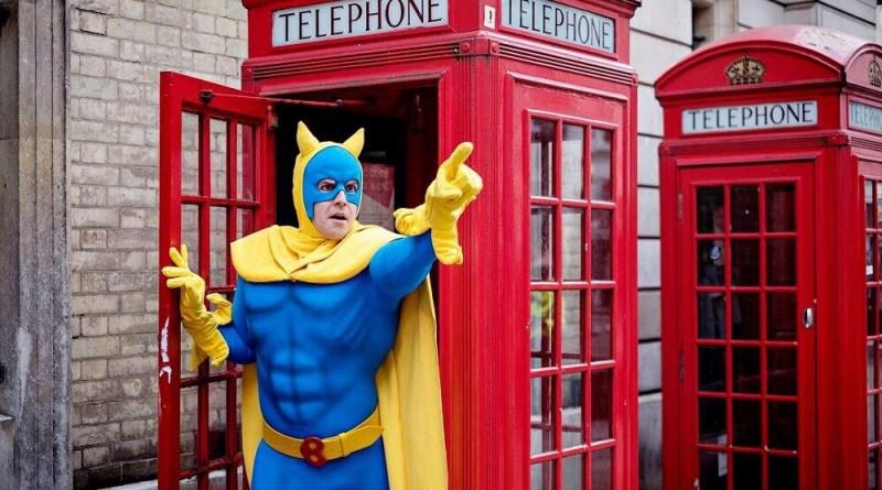 Matthew McKenna as Bananaman. Photo: Claire Bilyard