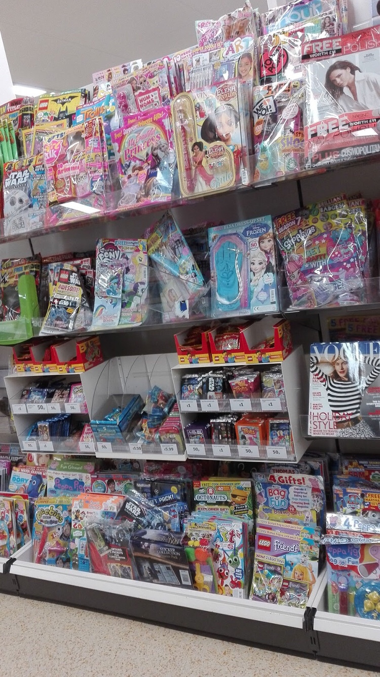 Comics in an ASDA store in England. Photo: Lew Stringer