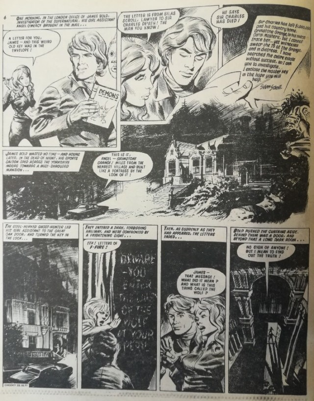 Cheeky Weekly Issue one dummy - James Bold - Fangs of Fear Page One